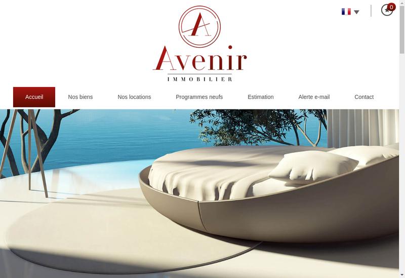 Capture d'écran du site de EURL Avenir Immobilier