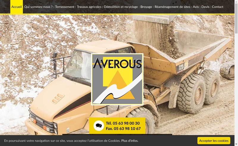 Capture d'écran du site de Averous SAS