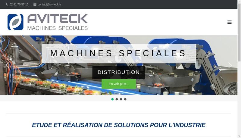 Capture d'écran du site de Aviteck