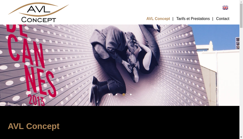 Capture d'écran du site de AVL Concept