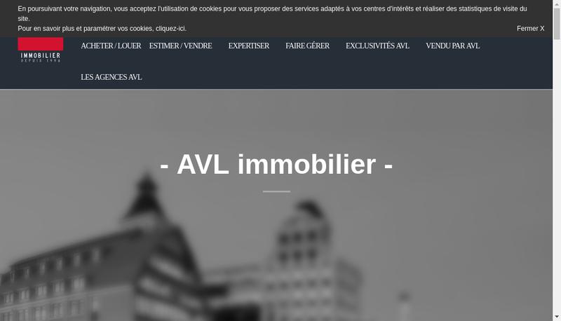 Capture d'écran du site de AVL Immobilier