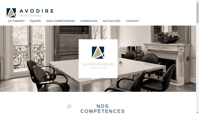 Capture d'écran du site de Avodire Societe d'Avocats