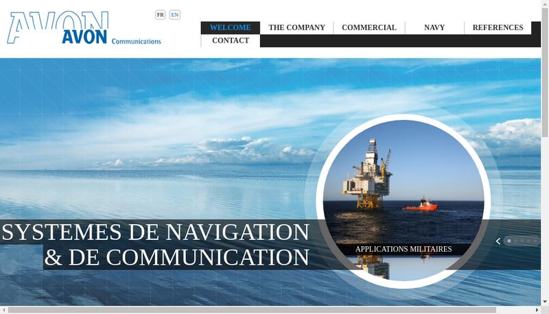 Capture d'écran du site de Avon Communications