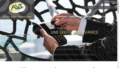 Capture d'écran du site de Acces Vital Technology