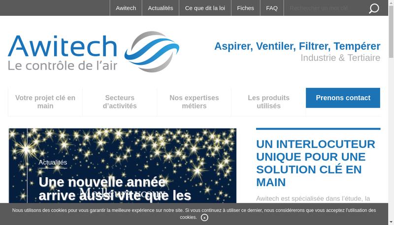 Capture d'écran du site de Awitech