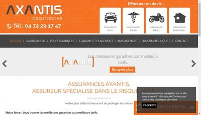 Site internet de Axantis Assurances