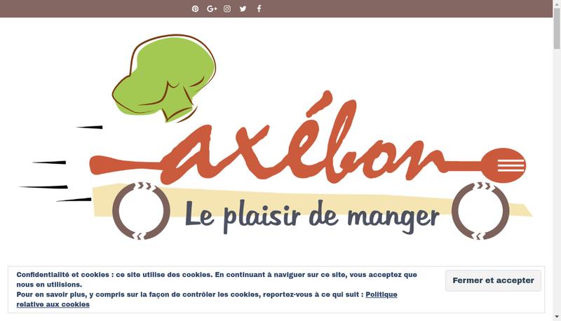 Capture d'écran du site de Axebon