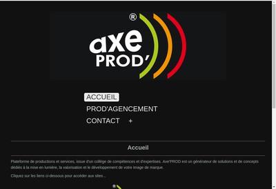 Site internet de Axeprod