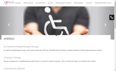 Site internet de Cabinet d'Ergotherapie Axergo