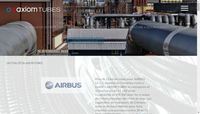 Capture d'écran du site de Axiom Tubes