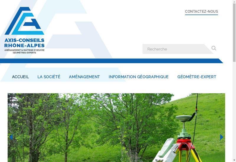 Capture d'écran du site de Axis Conseils Rhone Alpes