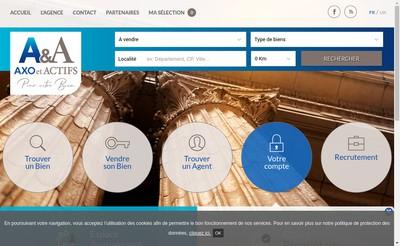 Site internet de Axo Immobilier