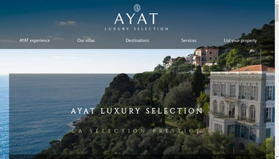 Site internet de Ayat Luxury Selection