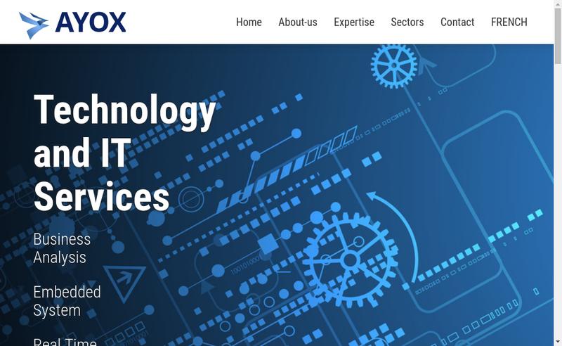 Capture d'écran du site de Ayox