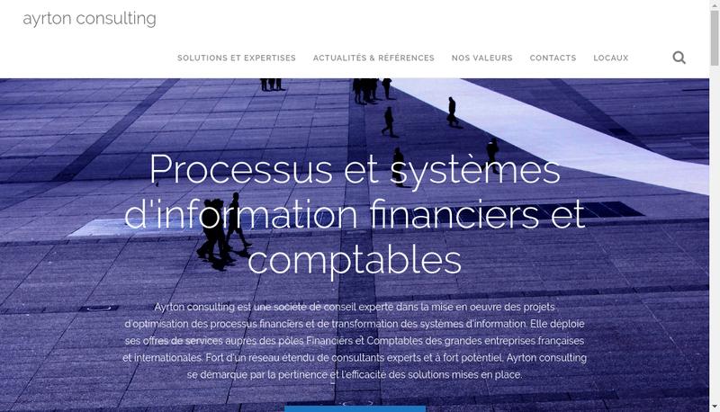Capture d'écran du site de Ayrton Consulting