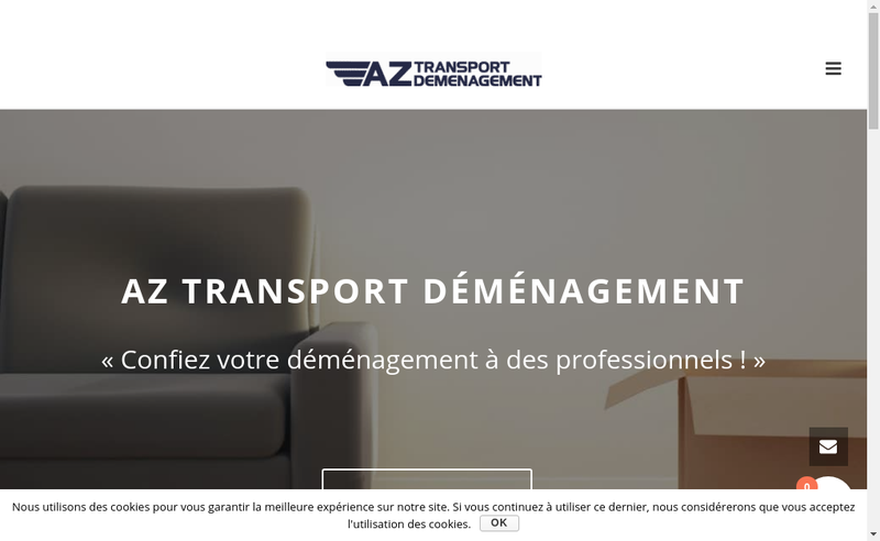 Capture d'écran du site de Az Transport Demenagement