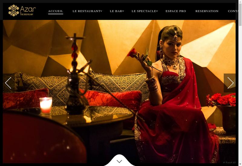 Capture d'écran du site de AZAR