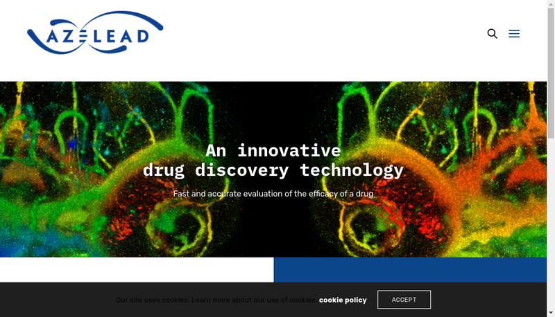 Capture d'écran du site de Azelead