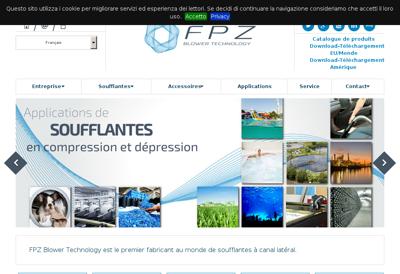 Capture d'écran du site de Azur Net Poitou