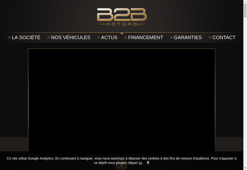 Capture d'écran du site de B2Bmotors