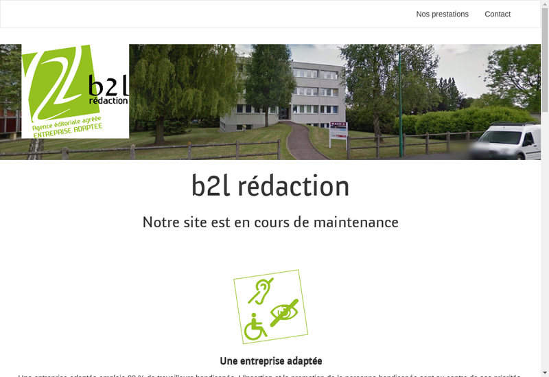 Capture d'écran du site de B2L Redaction
