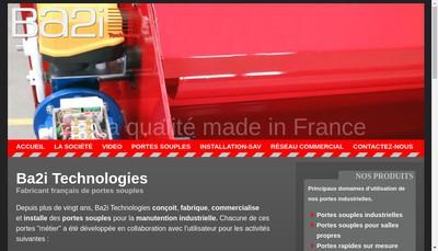 Site internet de Ba2I Technologies