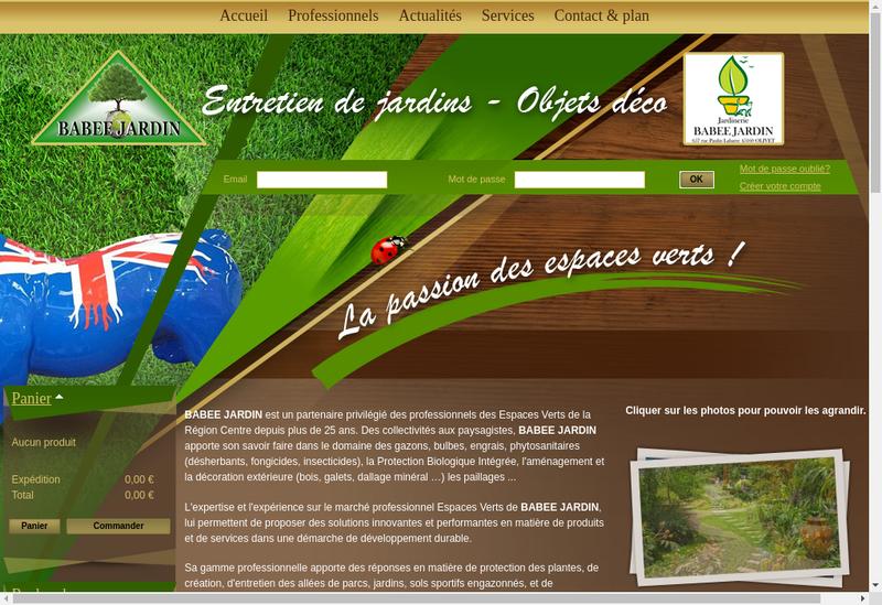 Capture d'écran du site de Babee Jardin