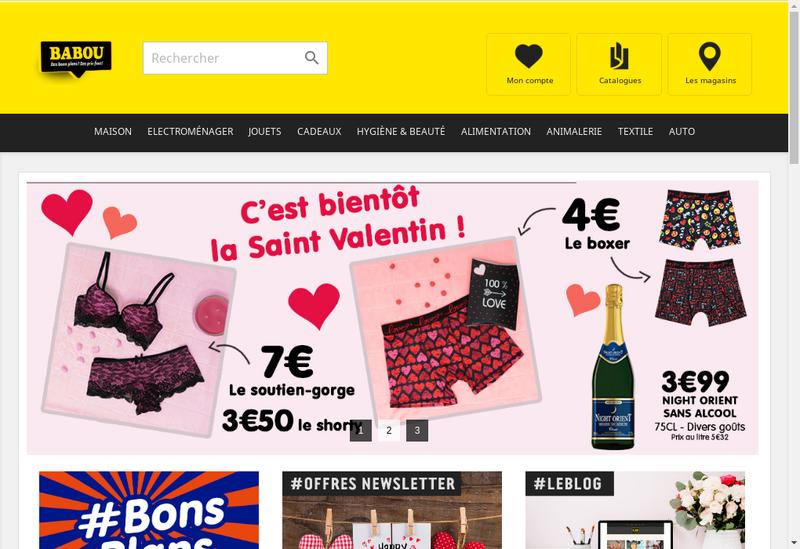 Capture d'écran du site de SAS Babou
