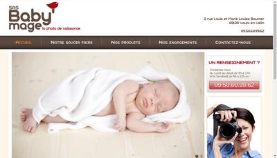 Capture d'écran du site de Baby Mage