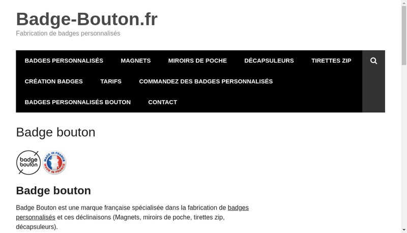 Capture d'écran du site de SARL Kitklub