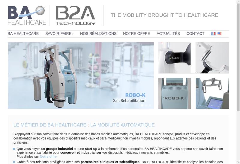 Capture d'écran du site de Ba Healthcare