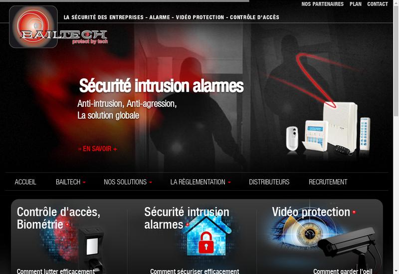 Capture d'écran du site de Bailtech