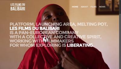 Capture d'écran du site de Les Films du Balibari