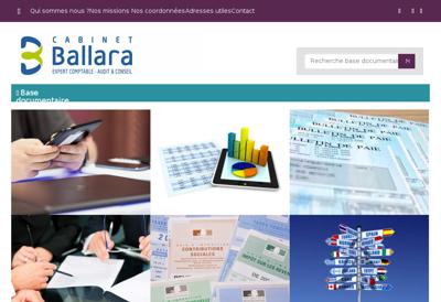 Capture d'écran du site de Cabinet Ballara SA