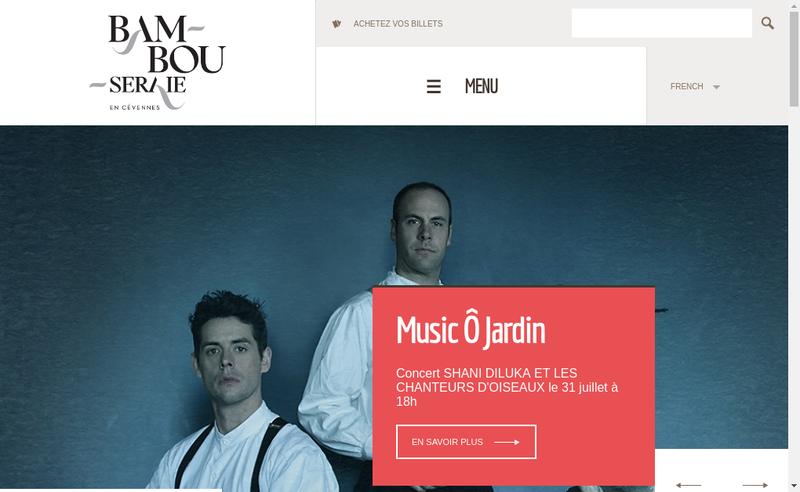Capture d'écran du site de Bambouseraie