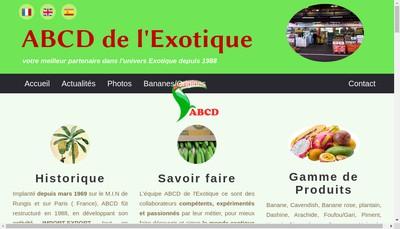 Site internet de Abcd de l'Exotique