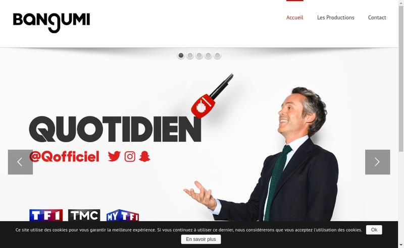 Capture d'écran du site de Bangumi