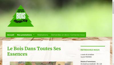Capture d'écran du site de Barrachin BTP