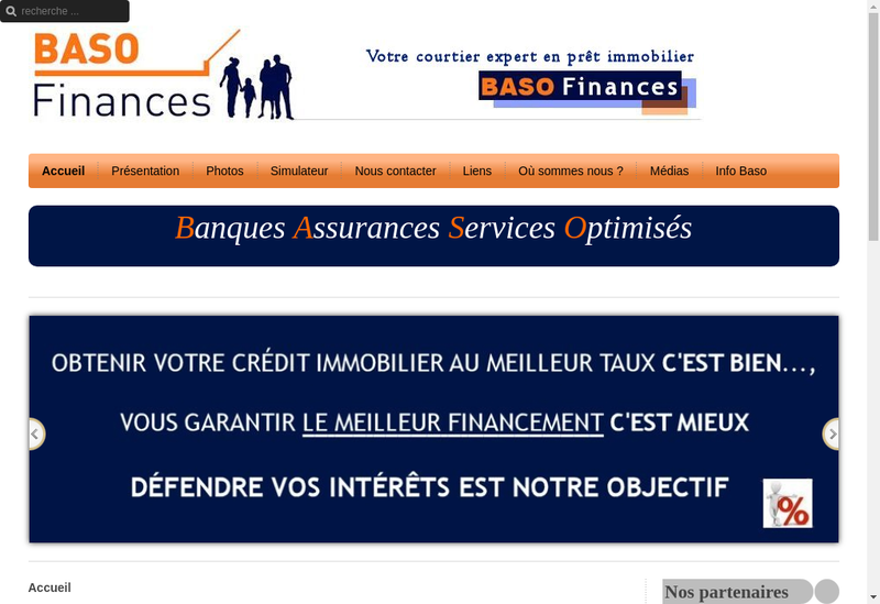 Capture d'écran du site de Baso Finances