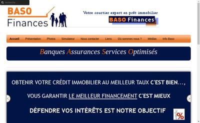 Site internet de Baso Finances