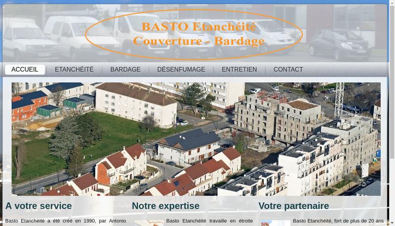 Capture d'écran du site de Basto Etancheite