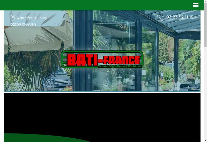 Capture d'écran du site de Bati France