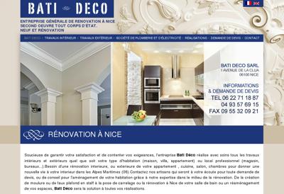Capture d'écran du site de Bati Deco