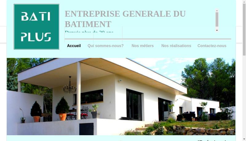 Capture d'écran du site de Bati Plus