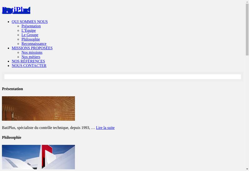 Capture d'écran du site de Batiplus