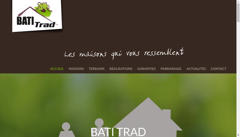 Capture d'écran du site de Bati Trad