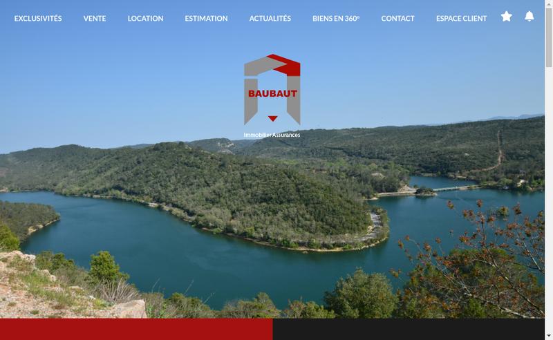 Capture d'écran du site de Baubaut Immobilier - Super Immo