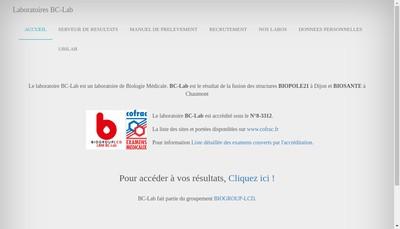 Site internet de Laboratoire du Parc de l'Europe