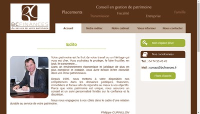 Site internet de Bc Finances