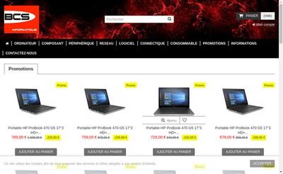 Site internet de Bcs Informatique